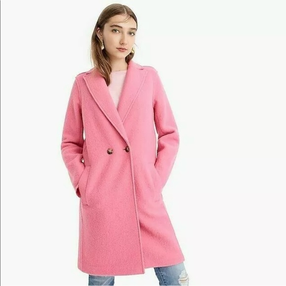 J Crew Daphne Pink Wool Coat Fall 2018 by J. Crew